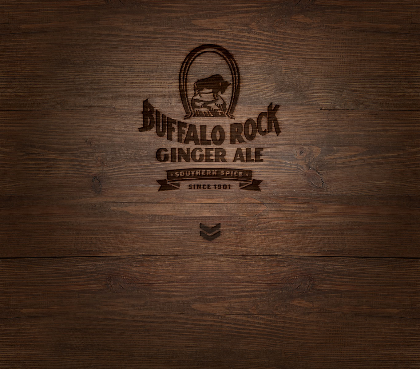 Buffalo Rock Ginger Ale logo on background