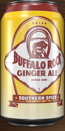 Buffalo Rock Ginger Ale can rotation 2