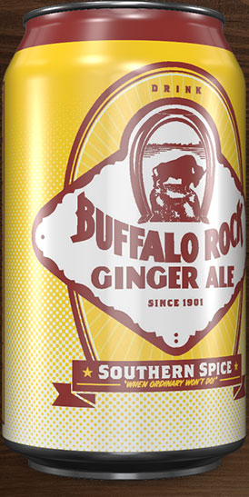 Buffalo Rock Ginger Ale can rotation 3