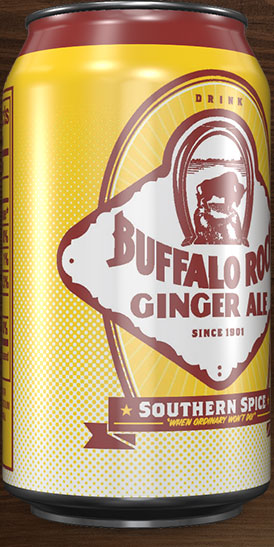 Buffalo Rock Ginger Ale can rotation 4