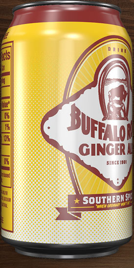 Buffalo Rock Ginger Ale can rotation 5