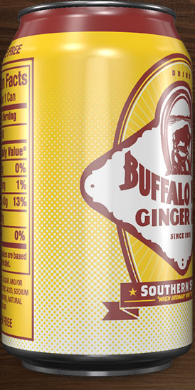 Buffalo Rock Ginger Ale can rotation 6