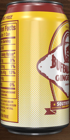 Buffalo Rock Ginger Ale can rotation 7