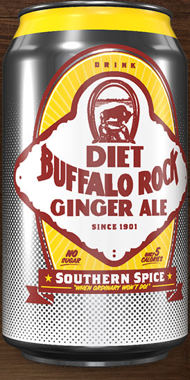 Diet Buffalo Rock Ginger Ale can rotation 2