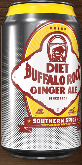 Diet Buffalo Rock Ginger Ale can rotation 3