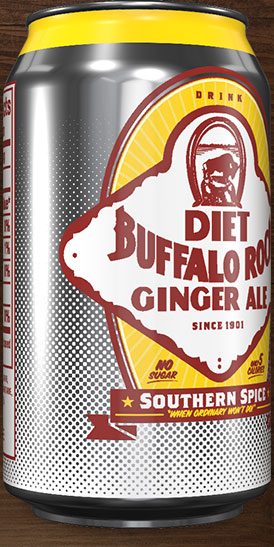 Diet Buffalo Rock Ginger Ale can rotation 4