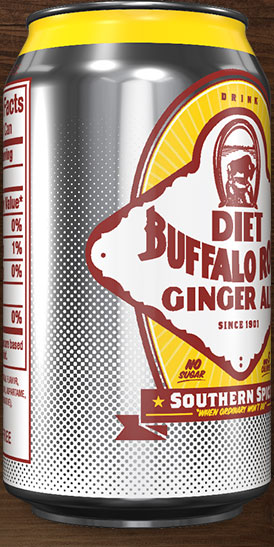 Diet Buffalo Rock Ginger Ale can rotation 5