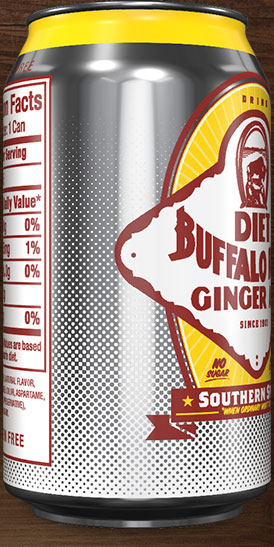 Diet Buffalo Rock Ginger Ale can rotation 6