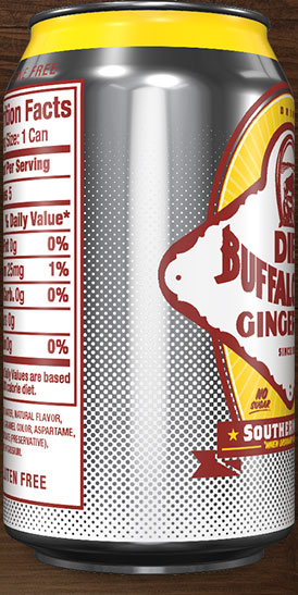 Diet Buffalo Rock Ginger Ale can rotation 7